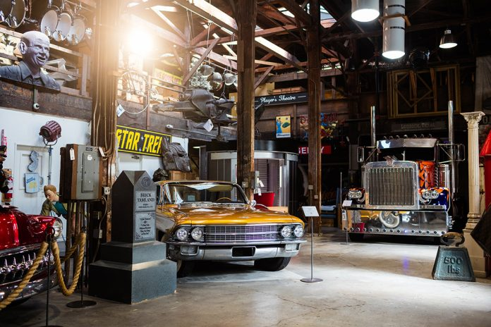 The inside of a studio at Paramount Pictures contains hundreds of iconic Hollywood memorabilia