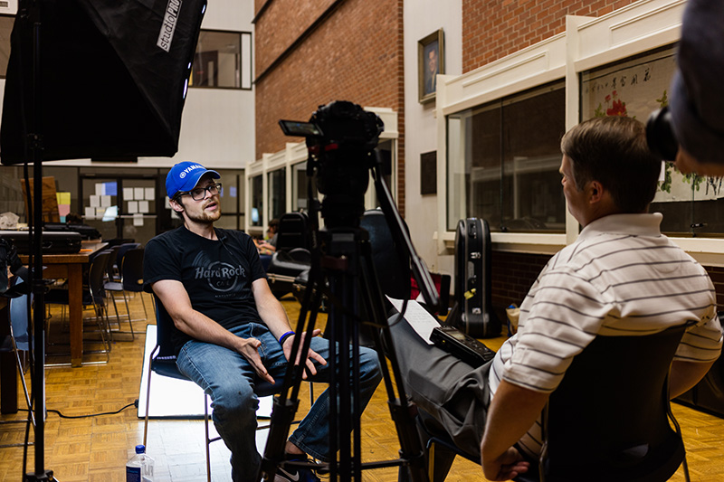 Sam Strasner interviews Tyler Bevill about his band camp experience