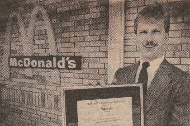 A newspaper clipping of ATU Alumnus Kevin Hern