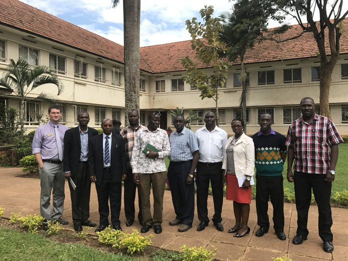 Dr. Killingsworth takes a group photo with Ungandan educators