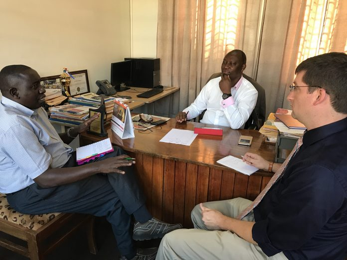 Dr. Killingsworth meets with Ugandan educators and discusses agriculture