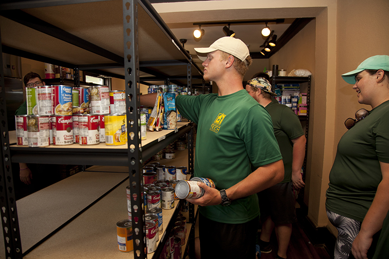 Volunteers at Green and Gold Cupboard