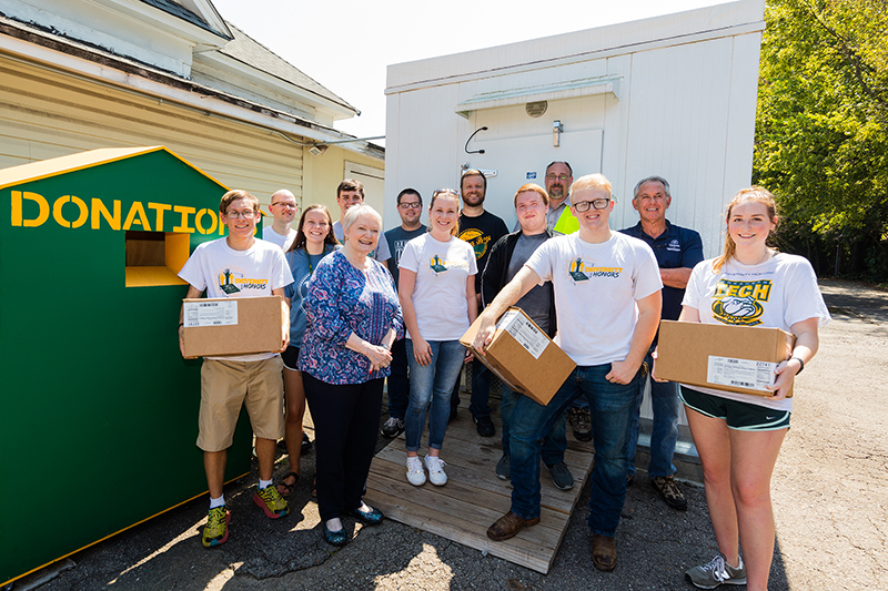 Tyson Donation to Green and Gold Cupboard September 2019