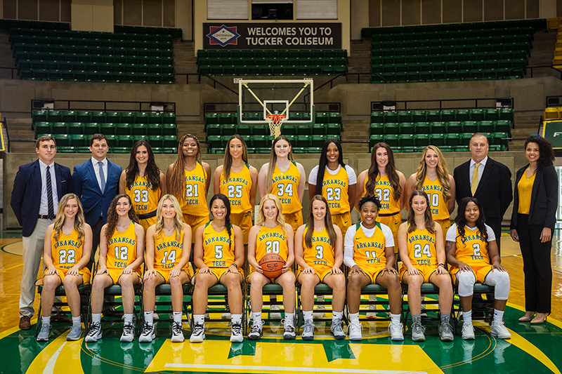 2019-20 Arkansas Tech Women's Basketball Team
