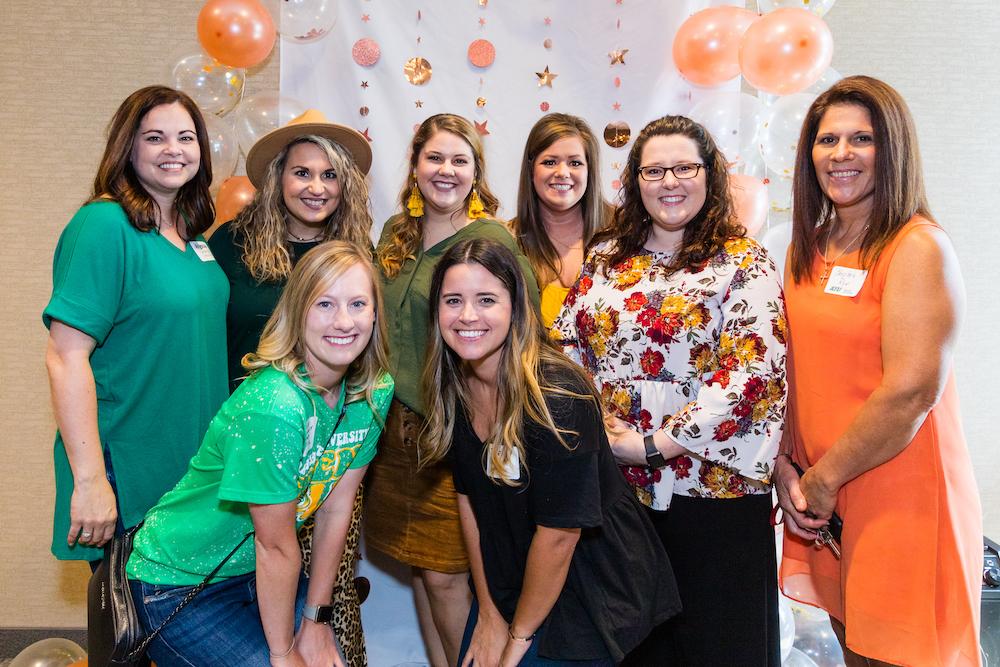 DZ Member Reunion - Alyssa Carter '02, Chelsea Lairamore '13, Samantha Hurlburt '16, Lyndsey Gower '12, Courtney Robinson '12, Christie Rye '86, Jessica Luchterhand '14, Tiffany Nance '09