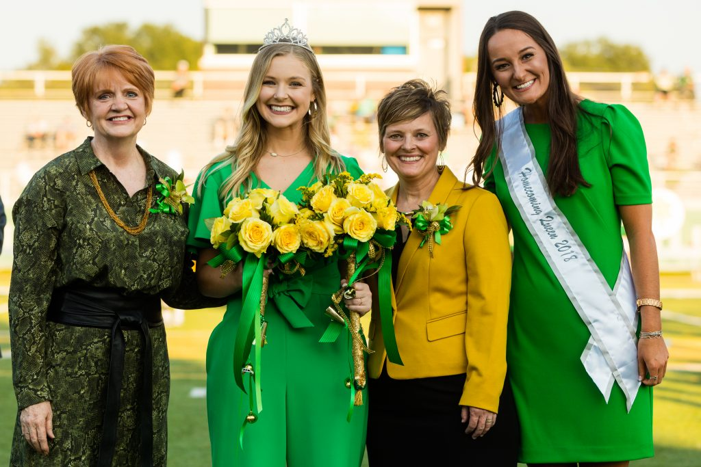 Crowning Ceremony - Dr. Robin E. Bowen, Madeline Spanel, Christa Chambers, Blair Miller '19