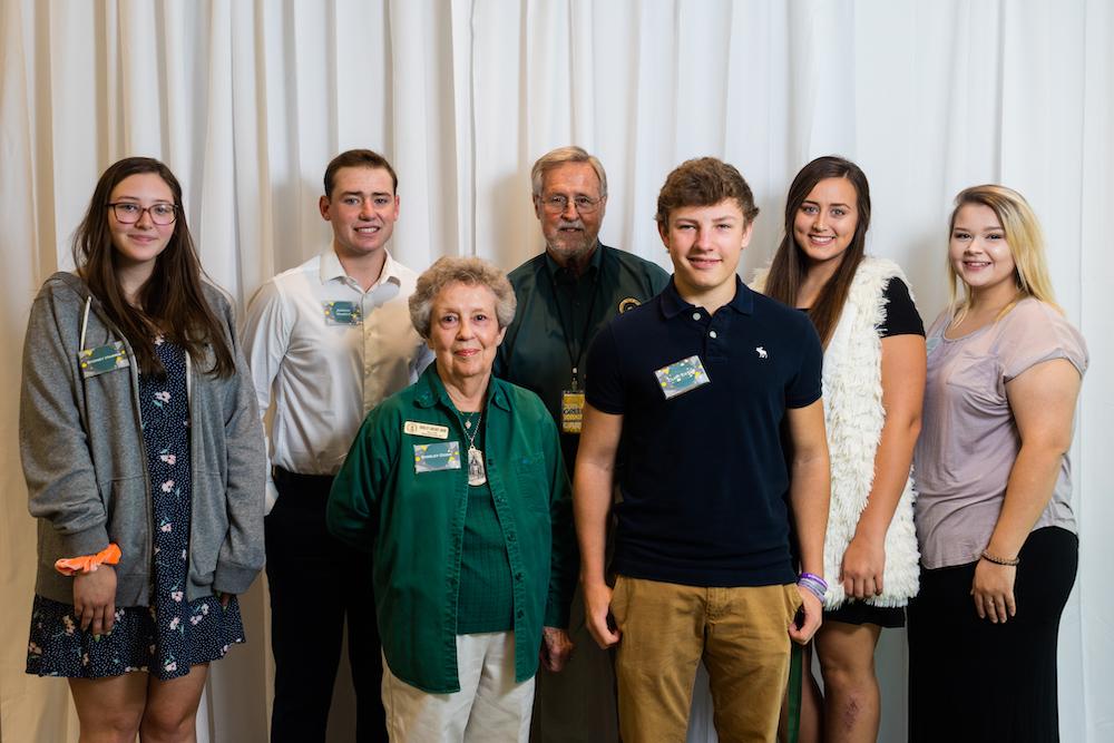 (Front) Shirley Dodd, Clint Eaton (Back) Sidney Harris, Jordan Mungle, Jim Murphy, Darby Brown, Hailey Minnie