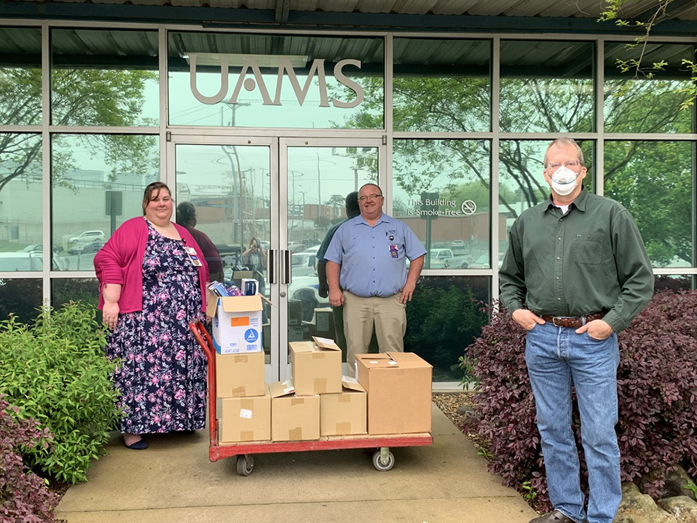 PPE Donation from ATU to UAMS