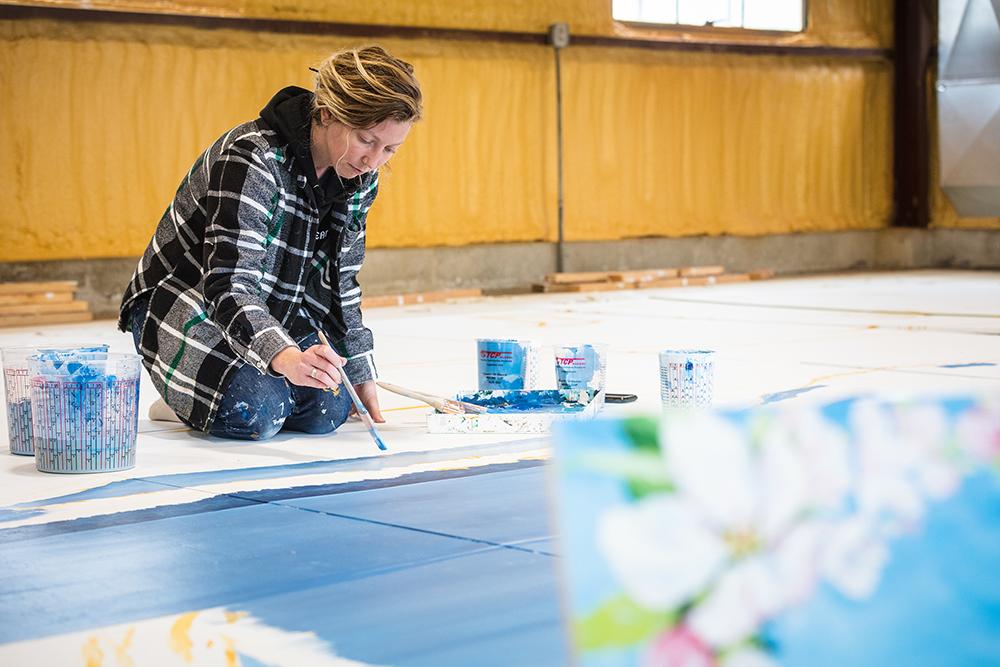 Tiffany Black Painting Spring 2020