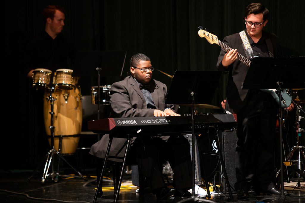 Barker, performing with ATU's Jazz Ensemble in 2019.