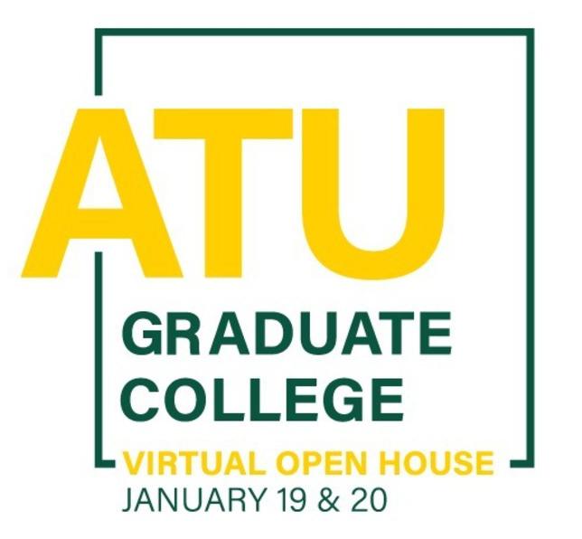 ATU Graduate College Virtual Open House 2021 Logo