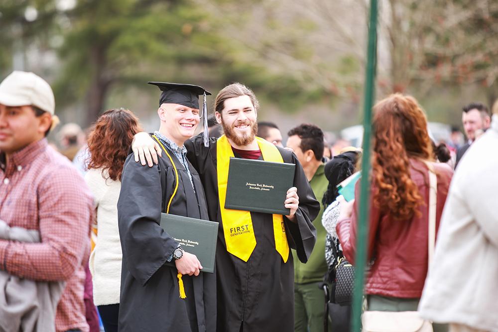 Graduates Outdoors Fall 2019