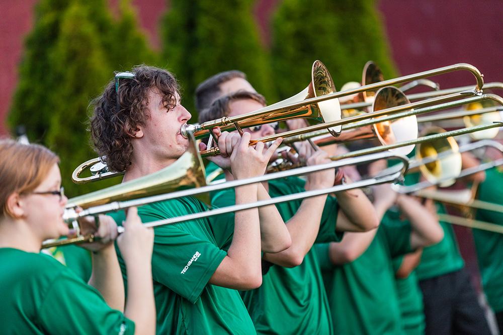 ATU Trombonists at Depot Park 2019